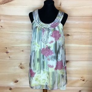 Theme abstract print lined dress Size S